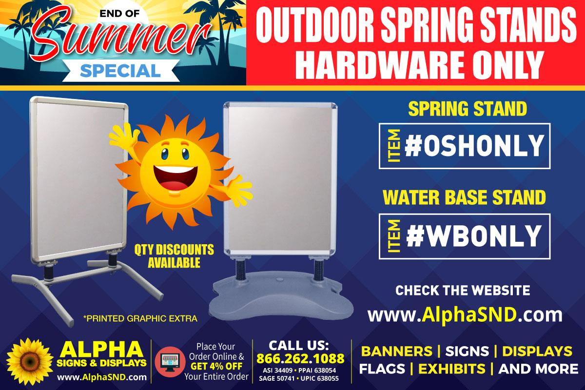 END OF SUMMER SPECIAL: OUTDOOR SPRING STANDS (HARDWARE ONLY)