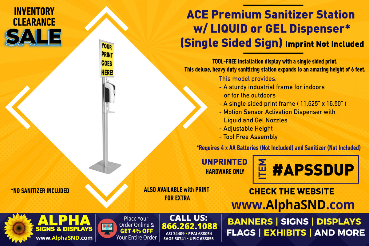 INVENTORY CLEARANCE SALE: Ace Premium Station Unprinted (Hardware Only)