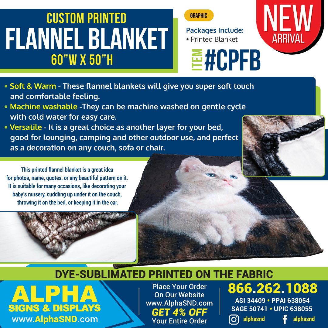 NEW PRODUCT ARRIVAL! Flannel Blankets