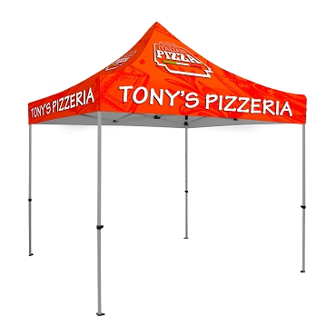 10' x 10' Tent UV Printed Full-Color Canopy with 40mm Steel Hexagonal Frame and Wheeled Bag Included