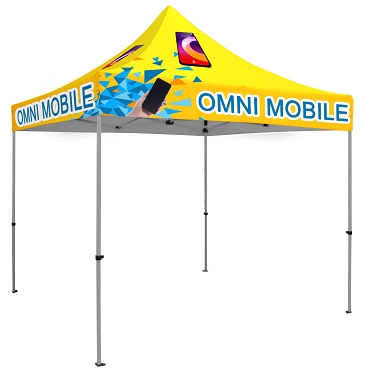 10' x 10' Tent UV Printed Full-Color Canopy with 40mm Aluminum Hexagonal Frame and Free Wheeled Bag
