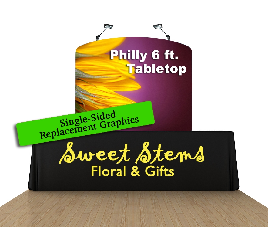 Philly 6 Ft. Tabletop Curved (Single-Sided Replacement Graphic Only)