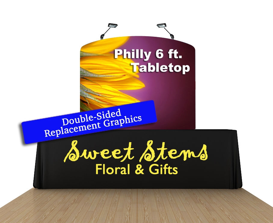 Philly 6 Ft. Tabletop Curved (Double-Sided Replacement Graphic Only)