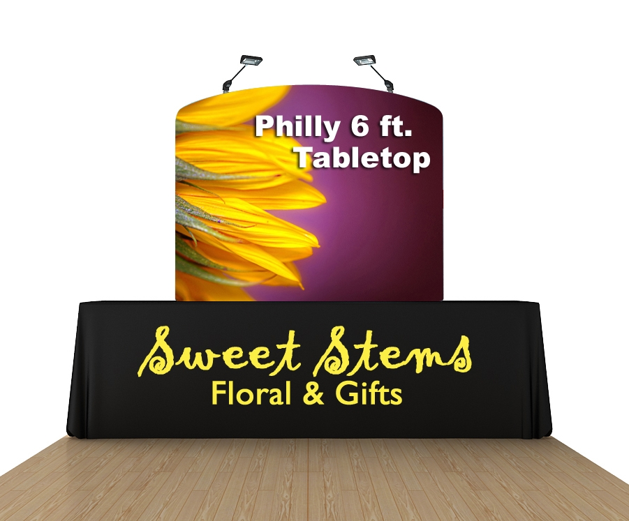 Philly 6 Ft. Tabletop Curved Single-Sided Display Kit