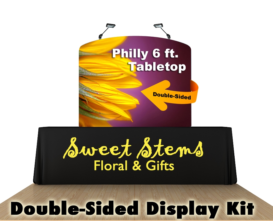 Philly 6 Ft. Tabletop Curved Double-Sided Display Kit