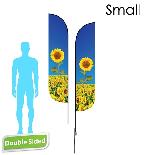 Feather Flag 9' Premium Double-Sided With Spike Base & Carry Bag (Small)