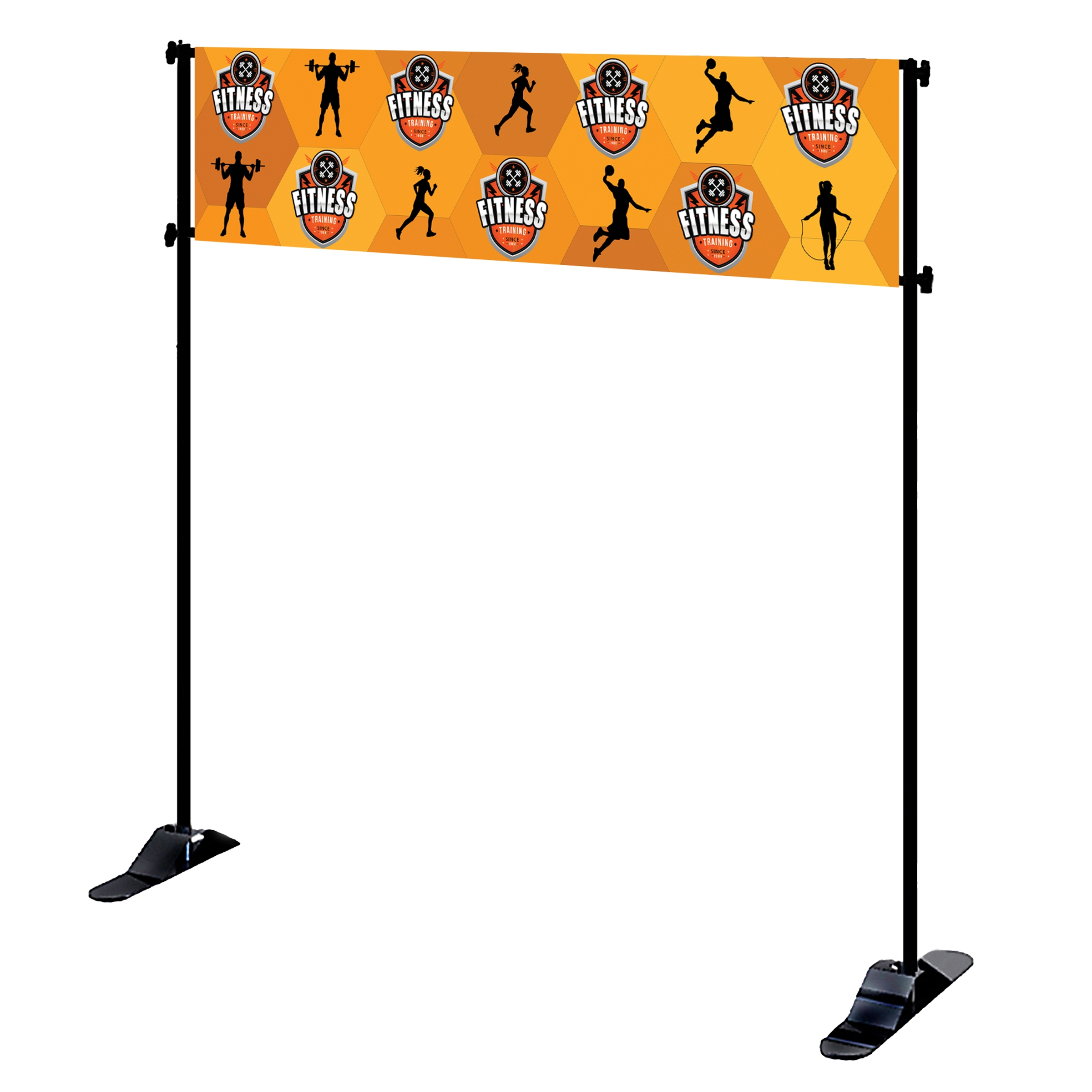 Mighty Banner Display - 8' x 2' Large Tube Frame and Fabric Graphic Kit