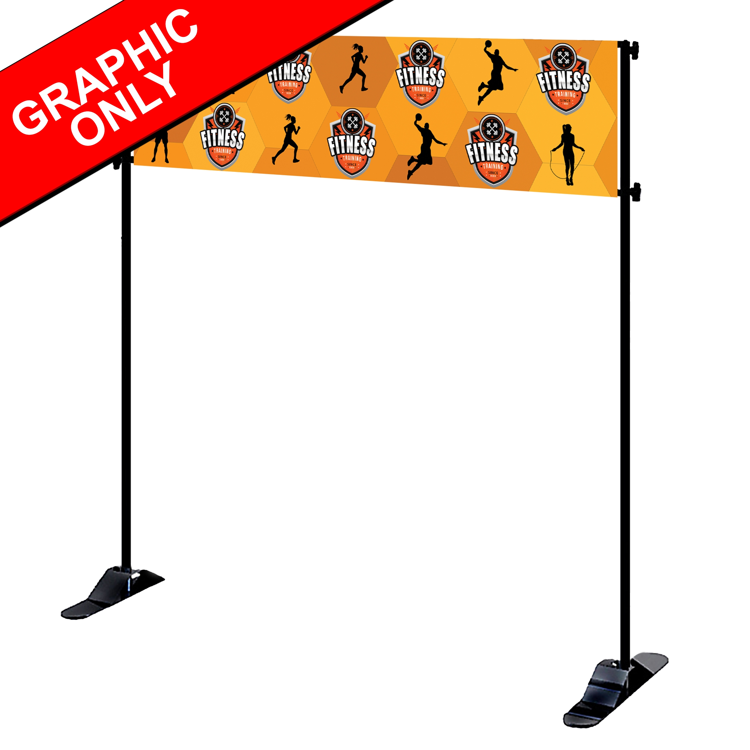 Mighty Banner Display -  8' x 2' Fabric Graphic Only