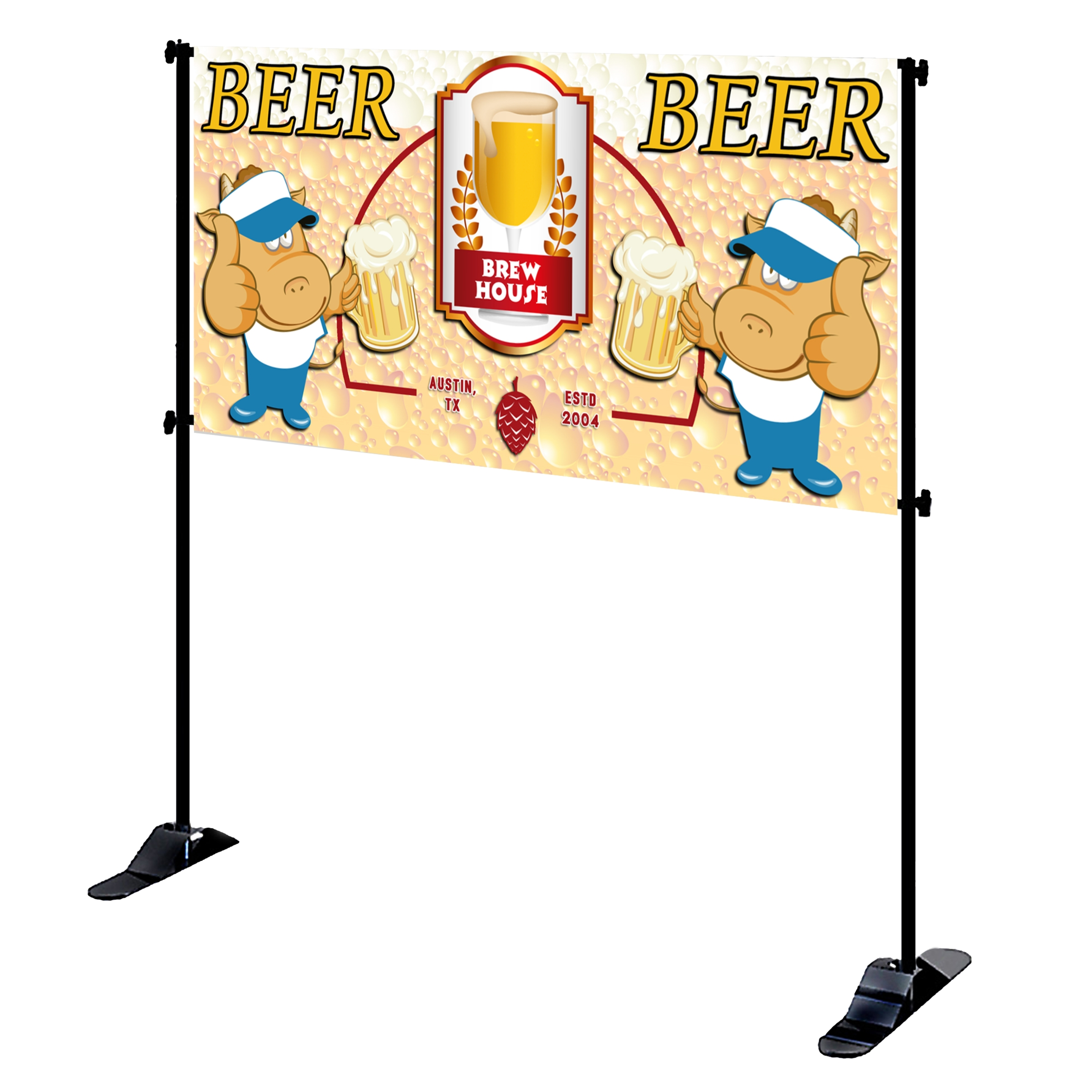 Mighty Banner Display - 8' x 4' Frame and Graphic Kit