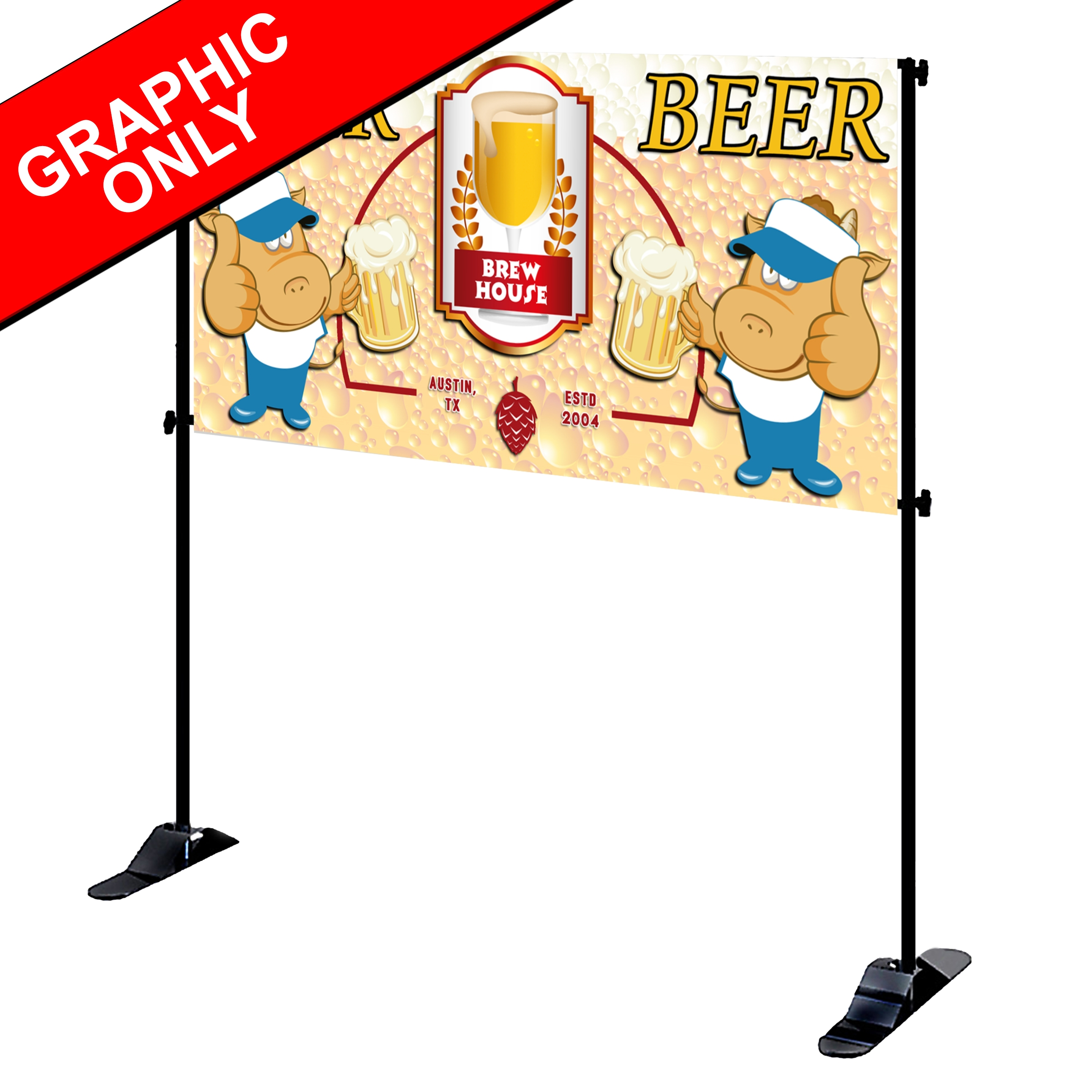 Mighty Banner Display -  8' x 4' Fabric Graphic Only