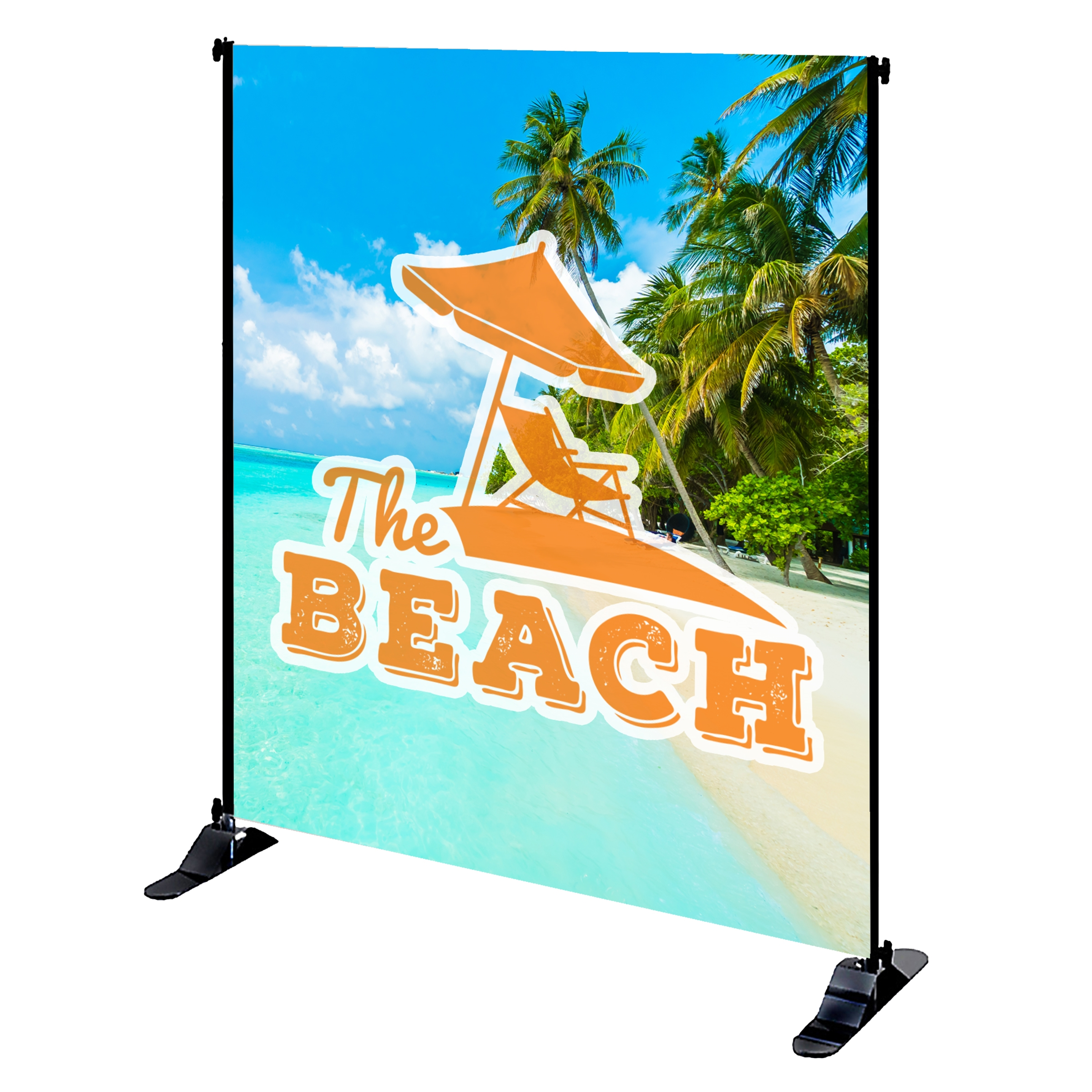 Mighty Banner Display - 6' x 8' Large Tube Frame and Fabric Graphic Kit