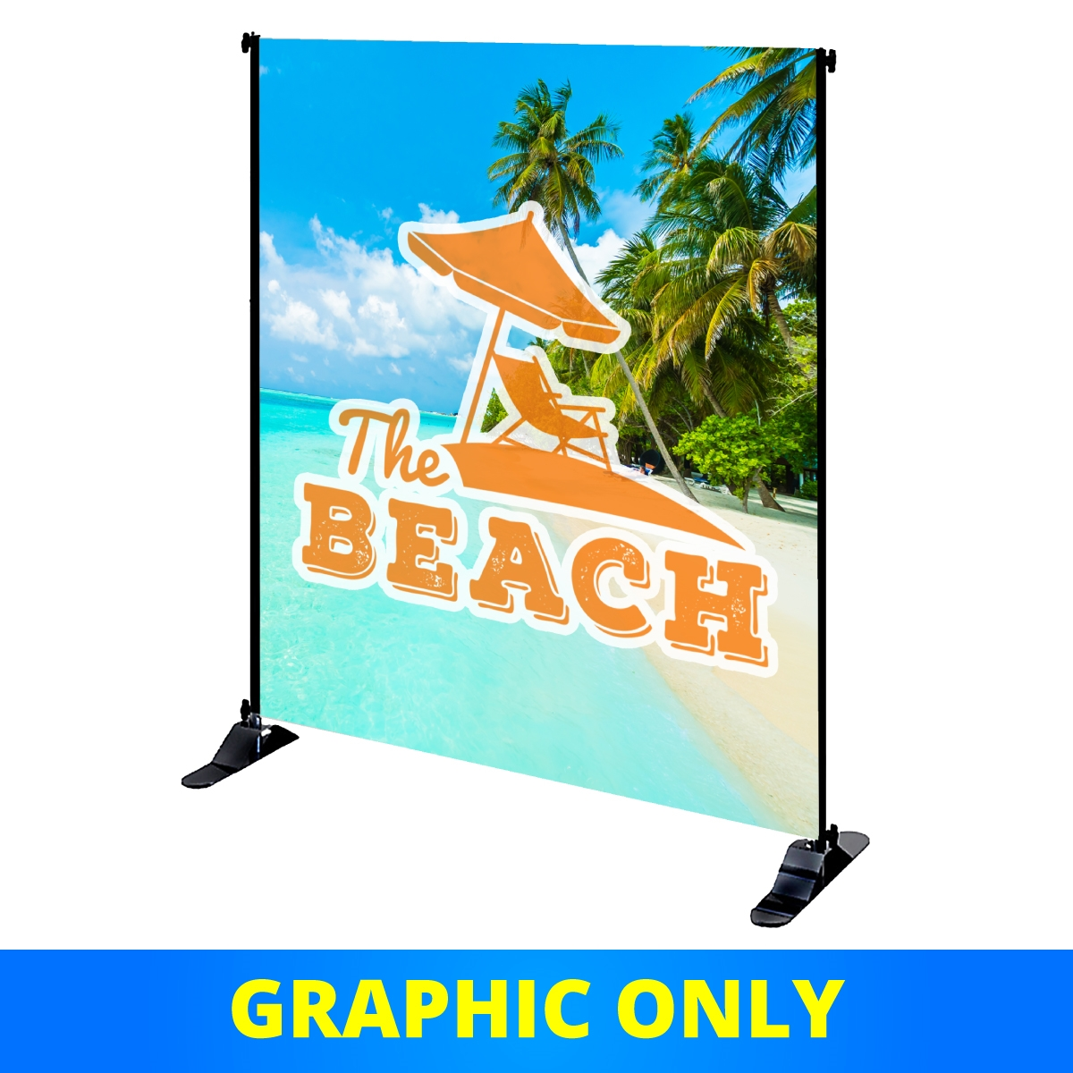 Mighty Banner Display - 6'W x 8' H Fabric Graphic Only