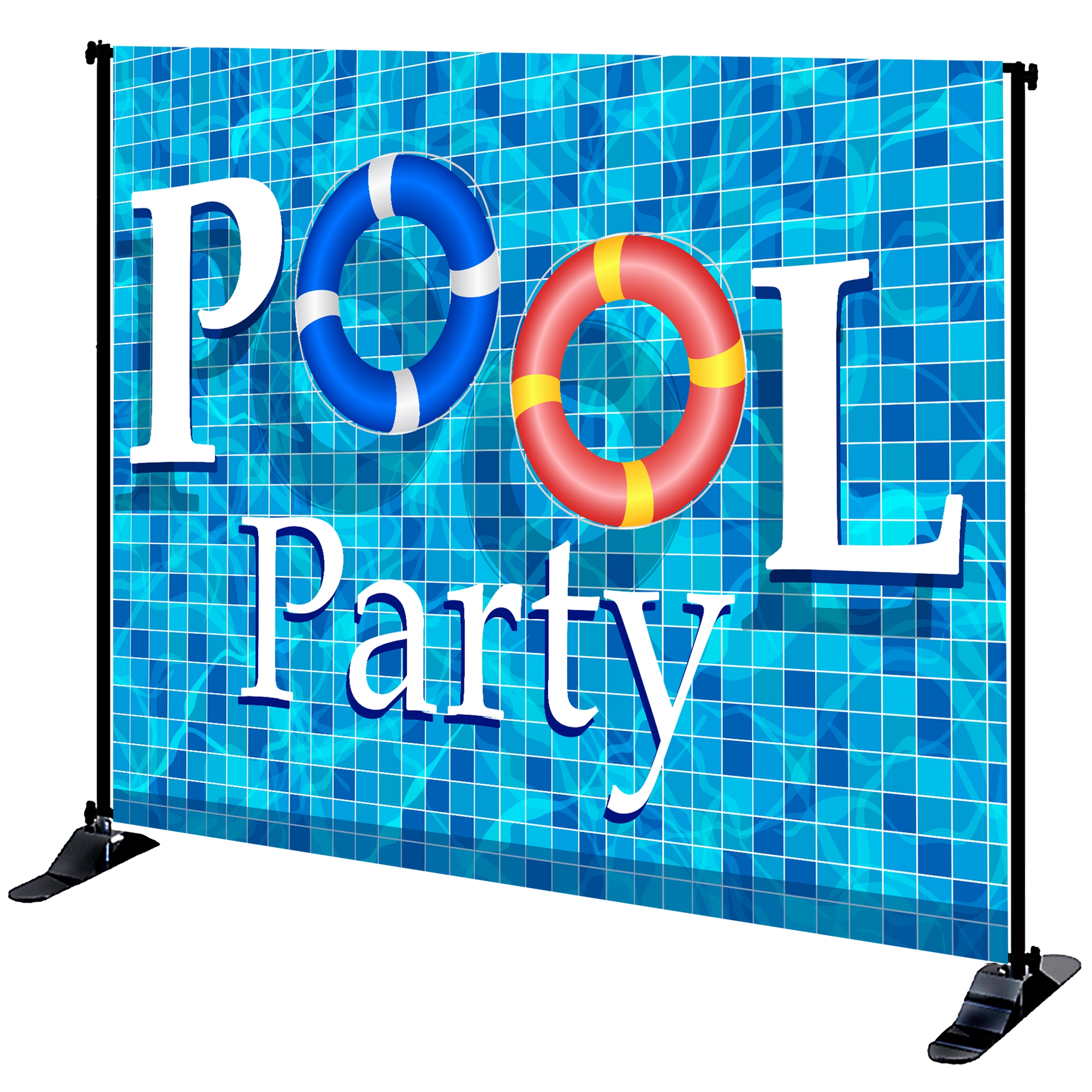 Mighty Banner Display - 8' x 10' Large Tube Frame and Fabric Graphic Kit