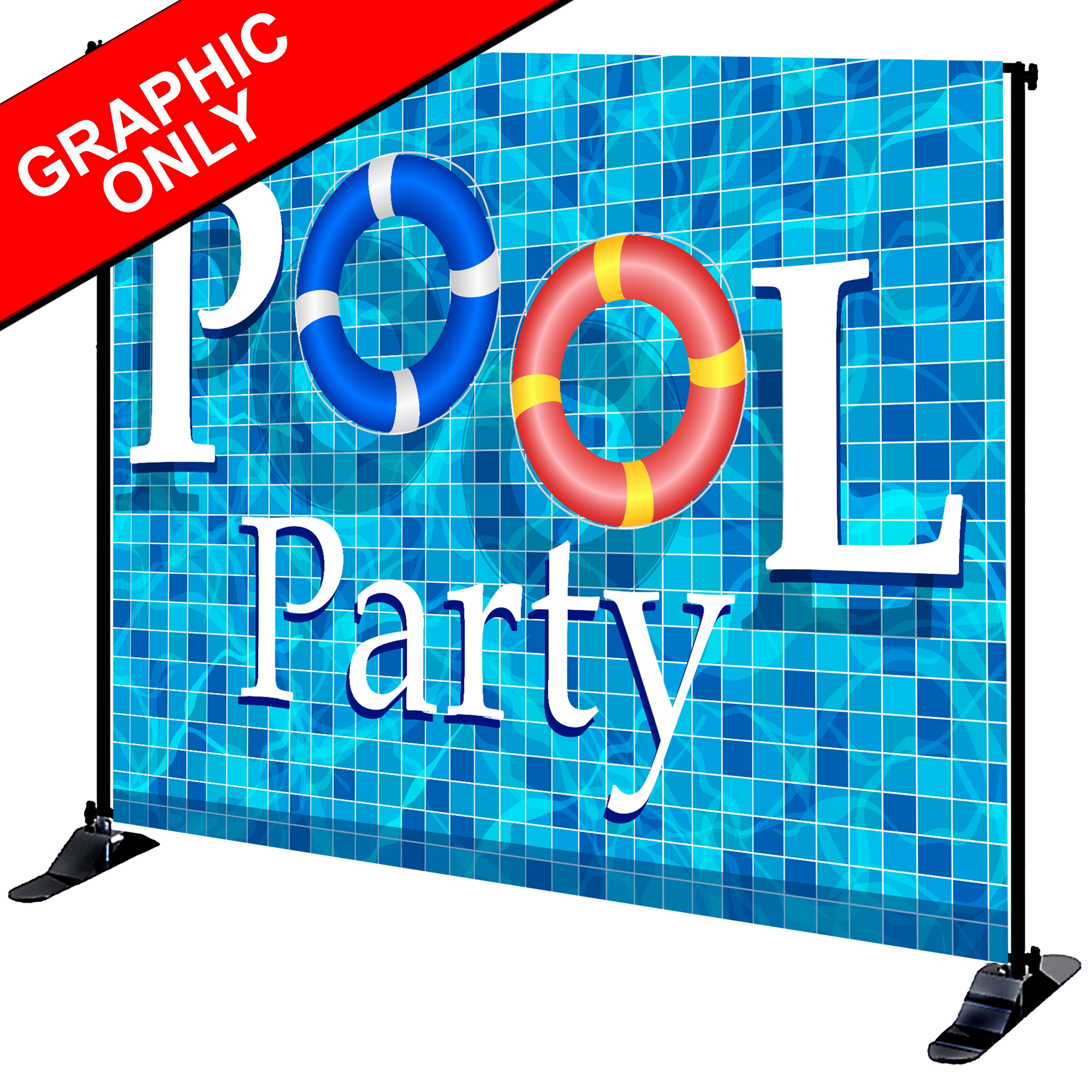 Mighty Banner Display - 8' x 10' Fabric Graphic Only
