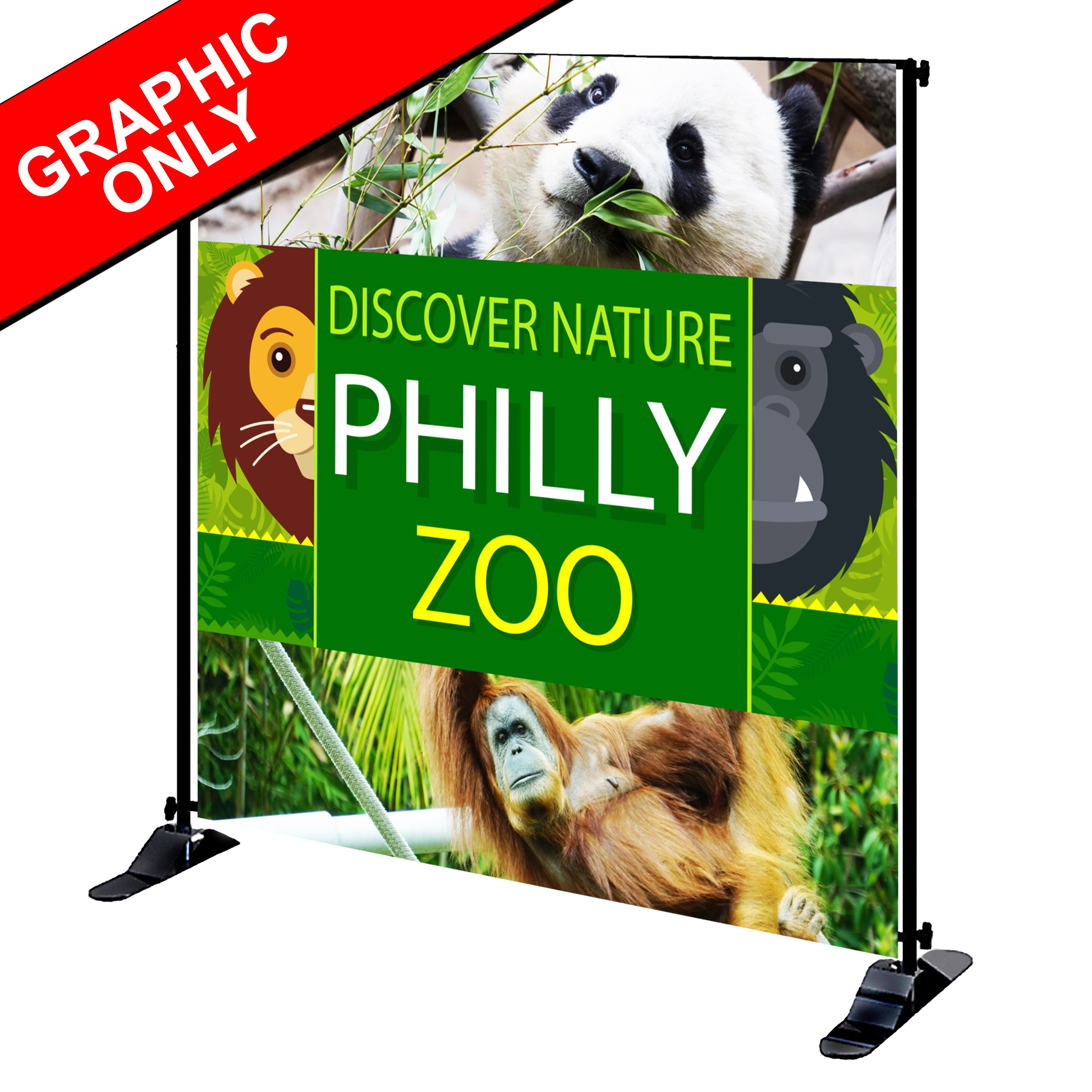Mighty Banner Display - 8' x 8' Fabric Graphic Only