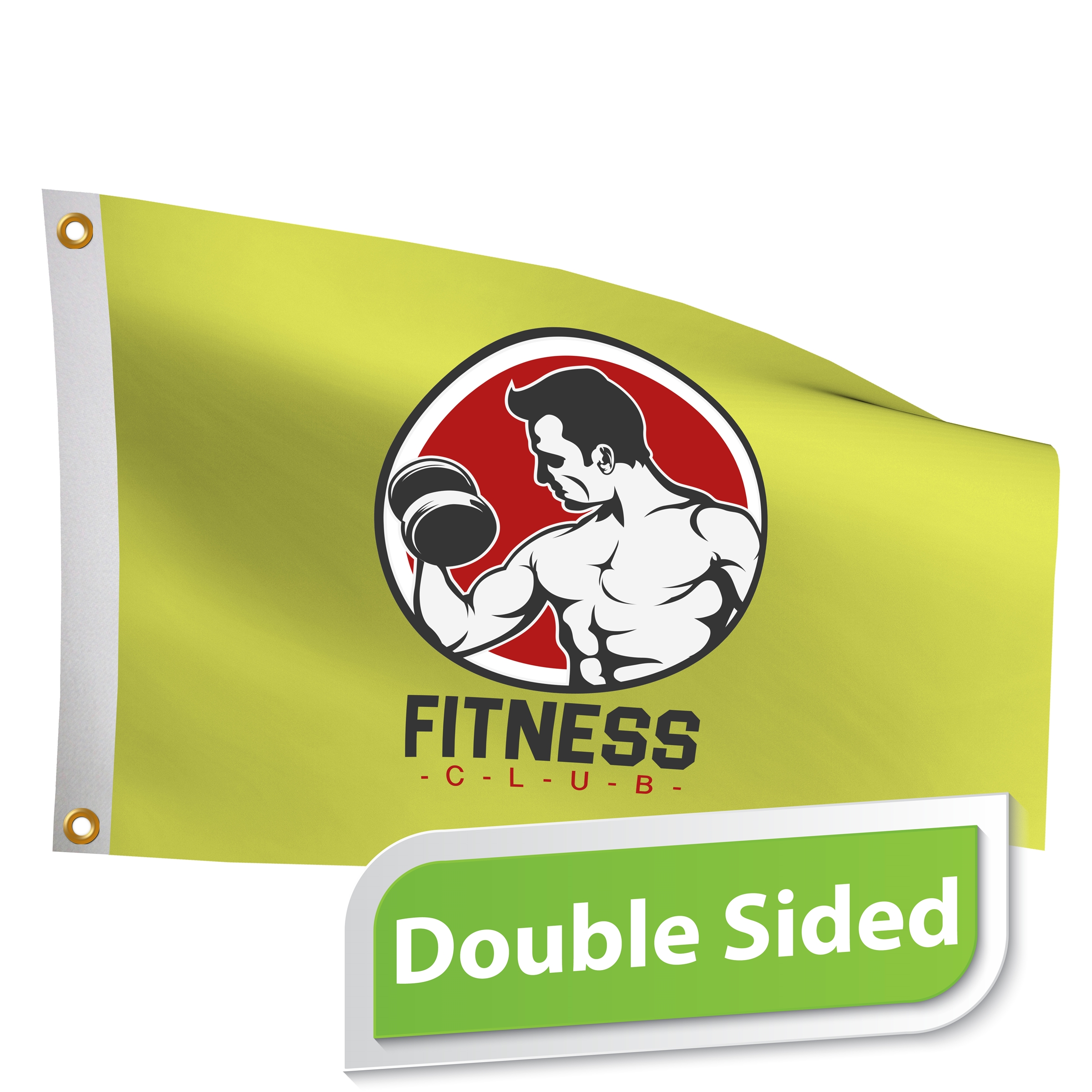 5' x 8' Custom Pole Flag Double Sided Print