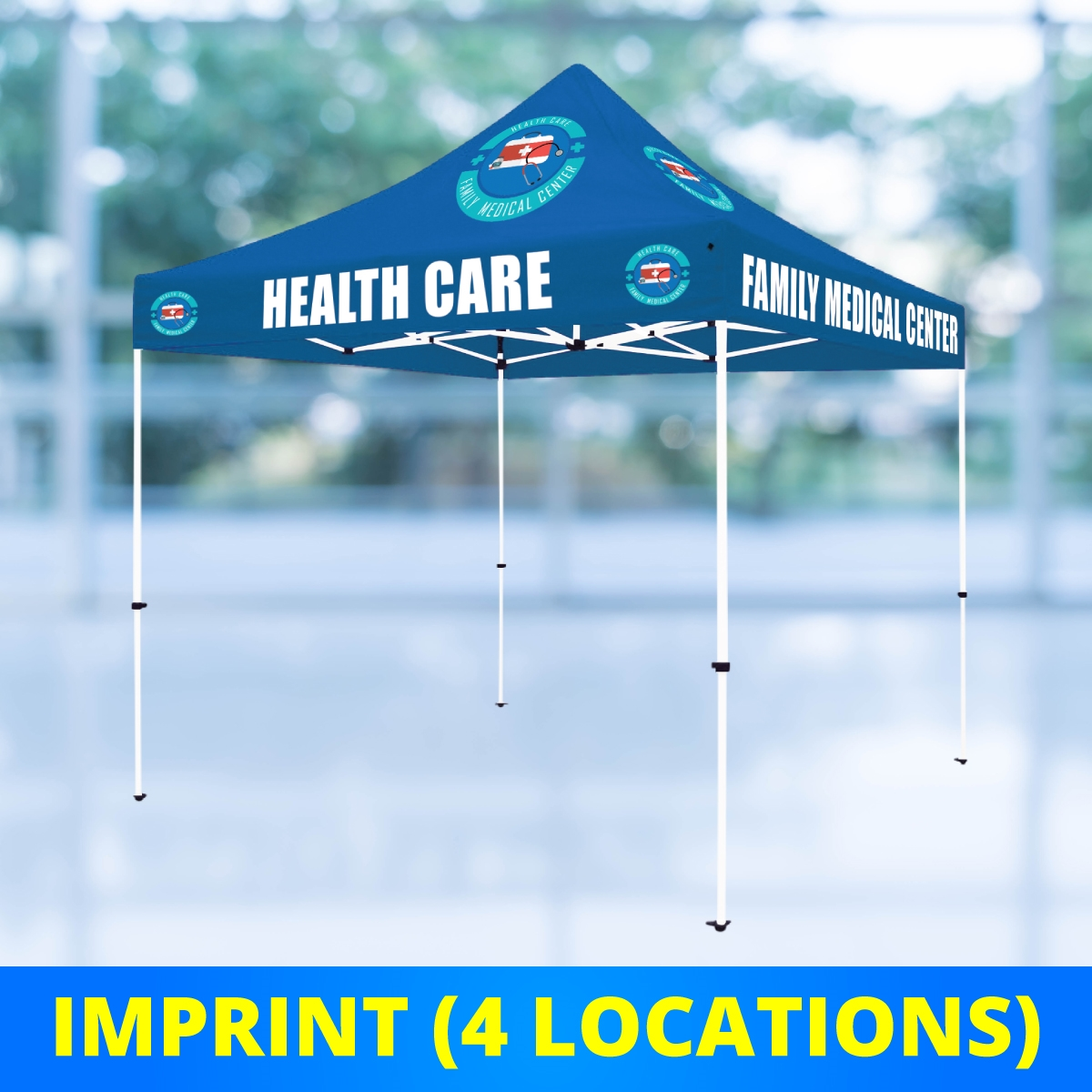 10 x 10 Select Canopy 30mm Square Steel Frame Tent - UV Printed Full-Color Imprint (4 Locations)