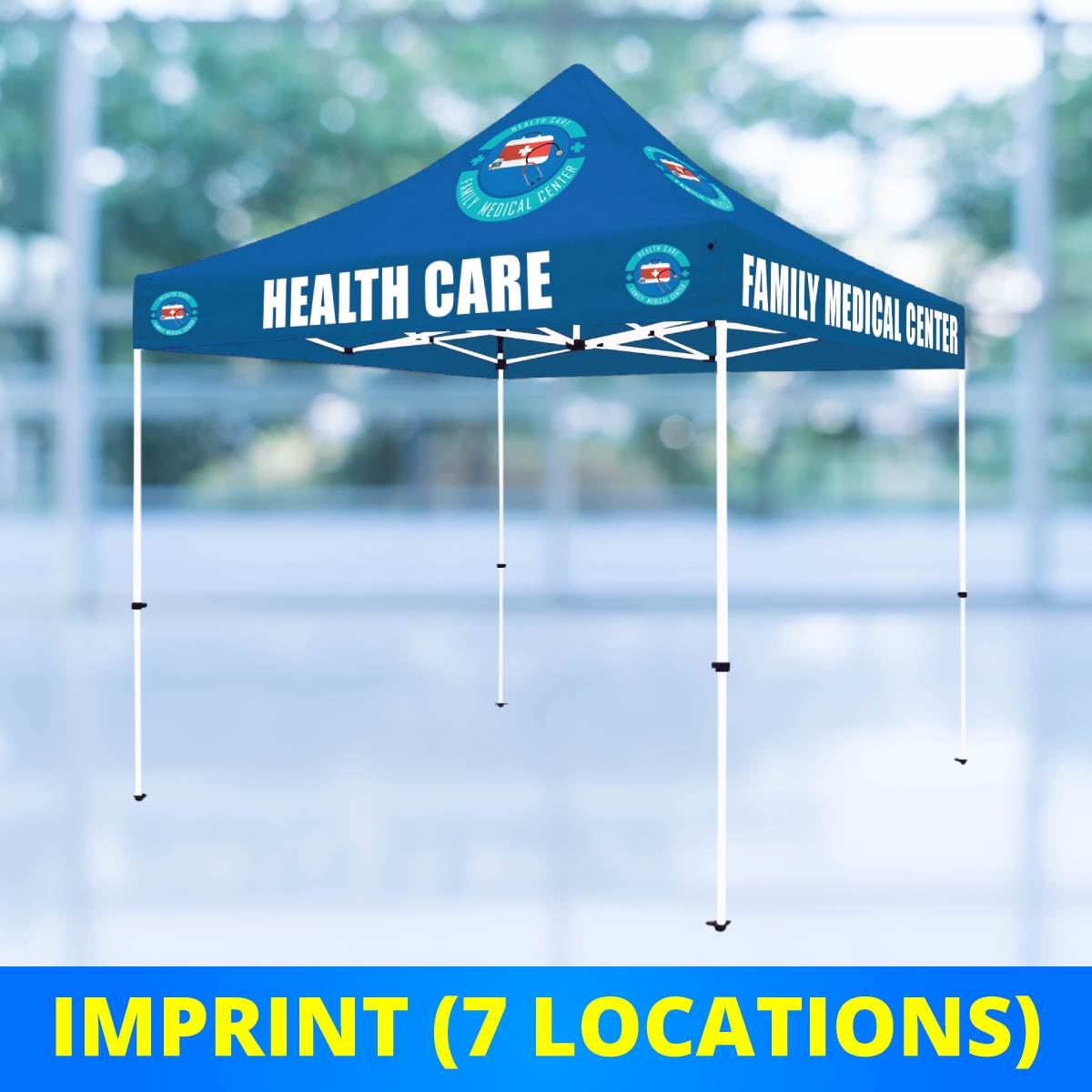 10 x 10 Select Canopy 30mm Square Steel Frame Tent - UV Printed Full-Color Imprint (7 Locations)