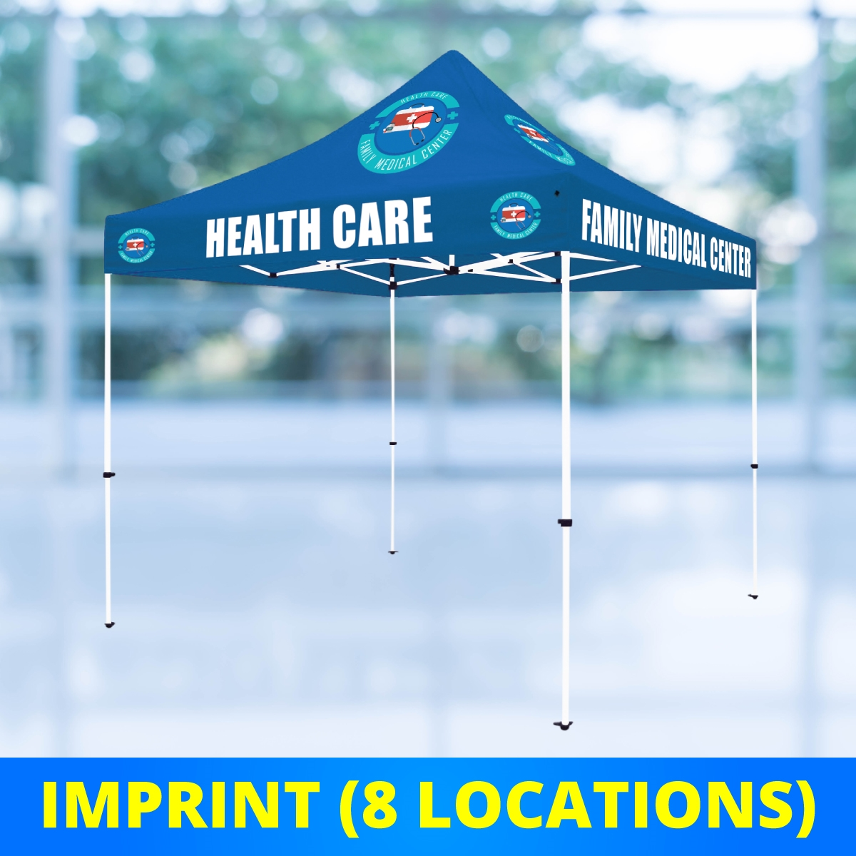 10 x 10 Select Canopy 30mm Square Steel Frame Tent - UV Printed Full-Color Imprint (8 Locations)