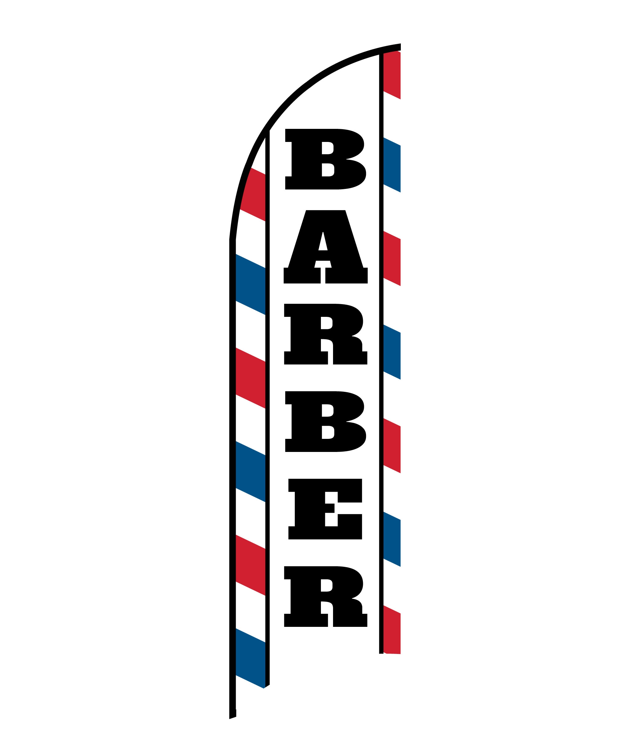 BARBER FLAG PRINT ONLY (Medium)