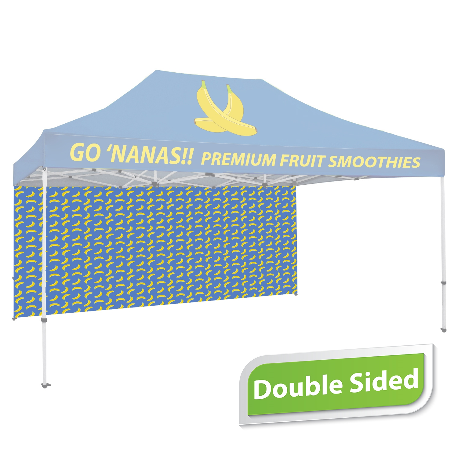 15 FT. Tent Back Wall - Full Color Double-Sided Graphic