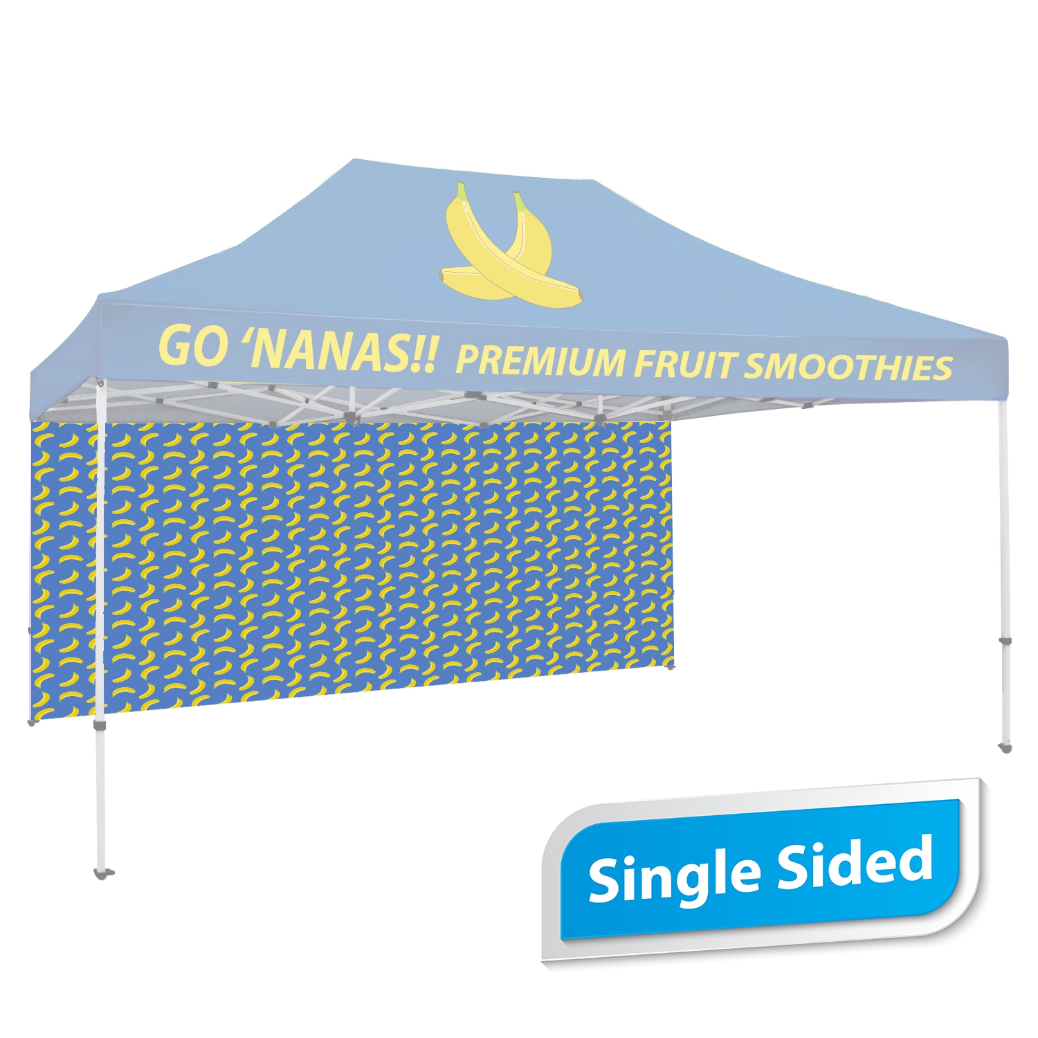 15 FT. Tent Back Wall - Full Color Single-Sided Graphic