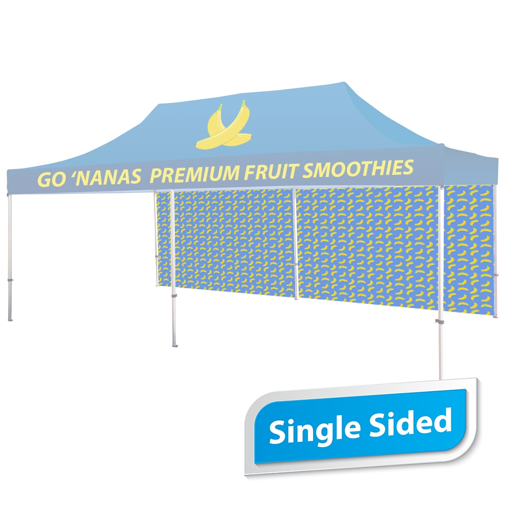 20 FT. Tent Back Wall - Full Color Single-Sided Graphic