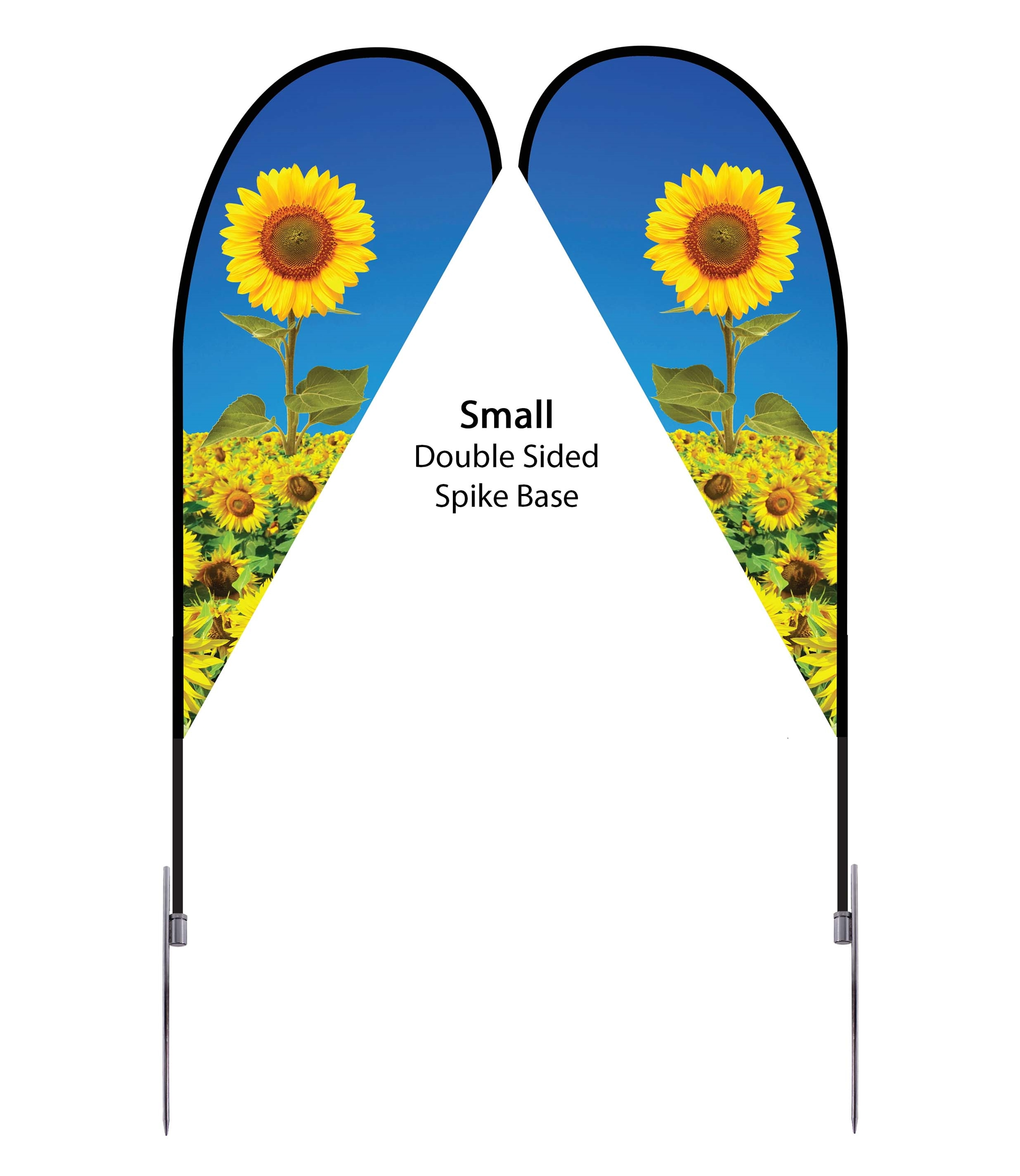 Teardrop Flag 7' Premium Double-Sided With Spike Base (Small)