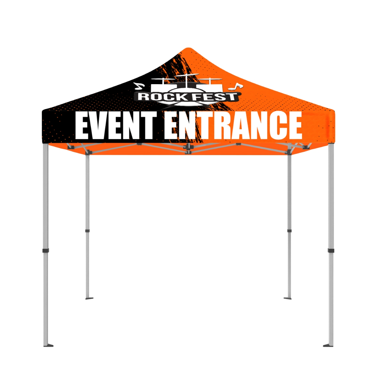 10' x 10' Tent UV Printing Full-Color Canopy with 50mm Aluminum Hexagonal Frame and Free Wheeled Bag
