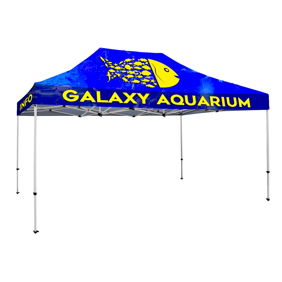 15' x 10' Tent Full-Color Canopy with 40mm Hexagonal  Aluminum Frame and Wheeled Carry Bag