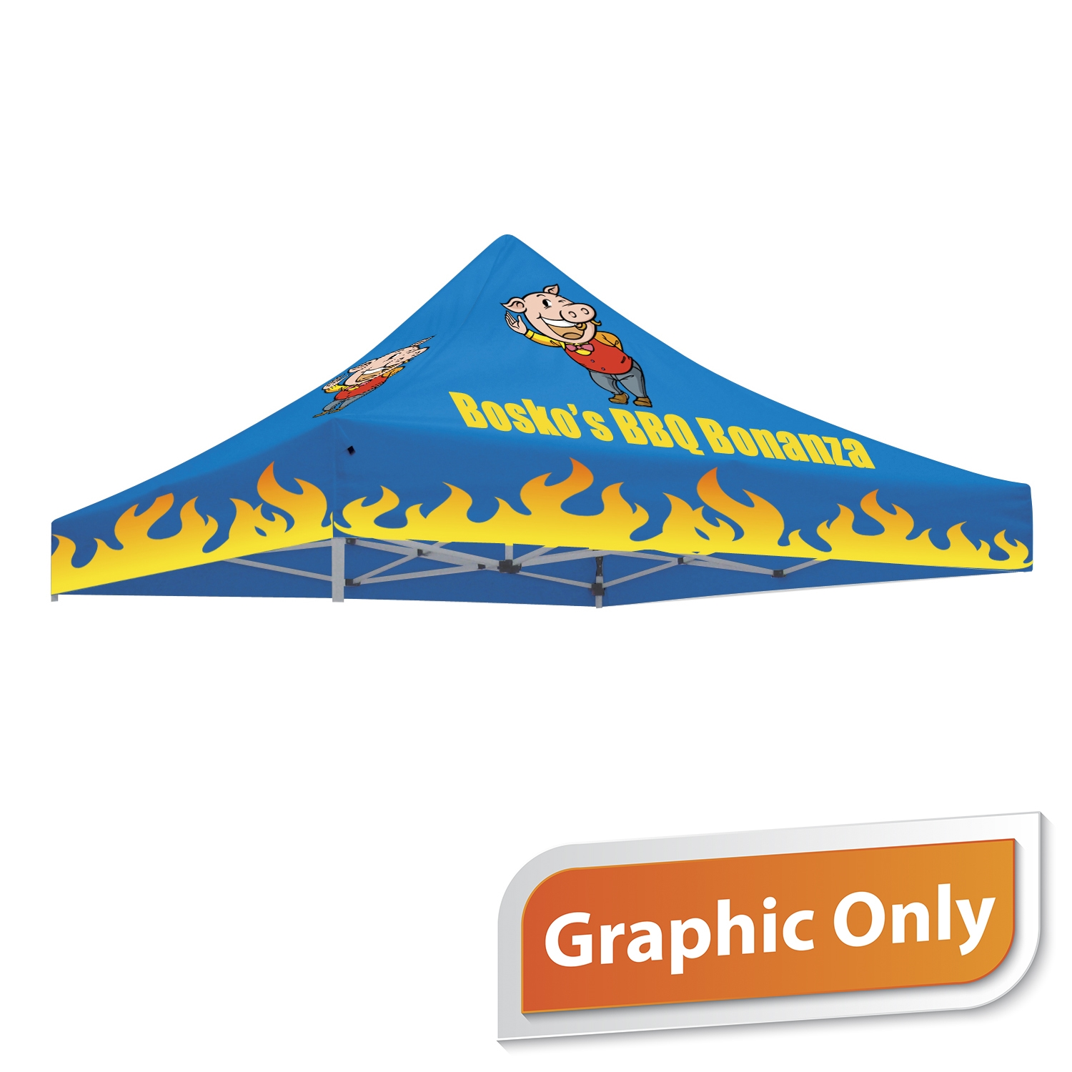 10' x 10' Tent Canopy - Full Color Graphic Only