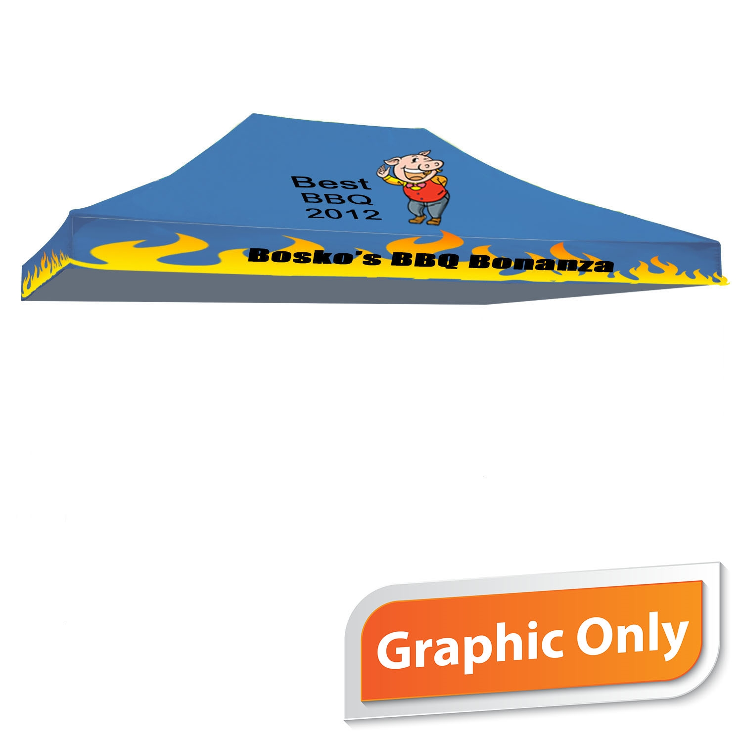 15' x 10' Tent Canopy - Full Color Graphic Only