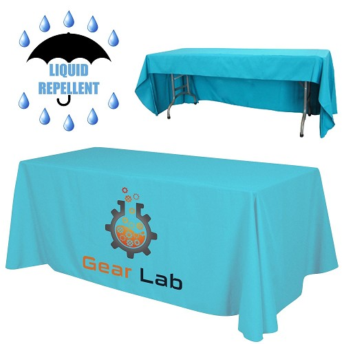 "8 ft. x 30""Top x 29""H - 3 Sided Economy Liquid Repellent Table Throw (Front Print Only) Dye Sublimated"